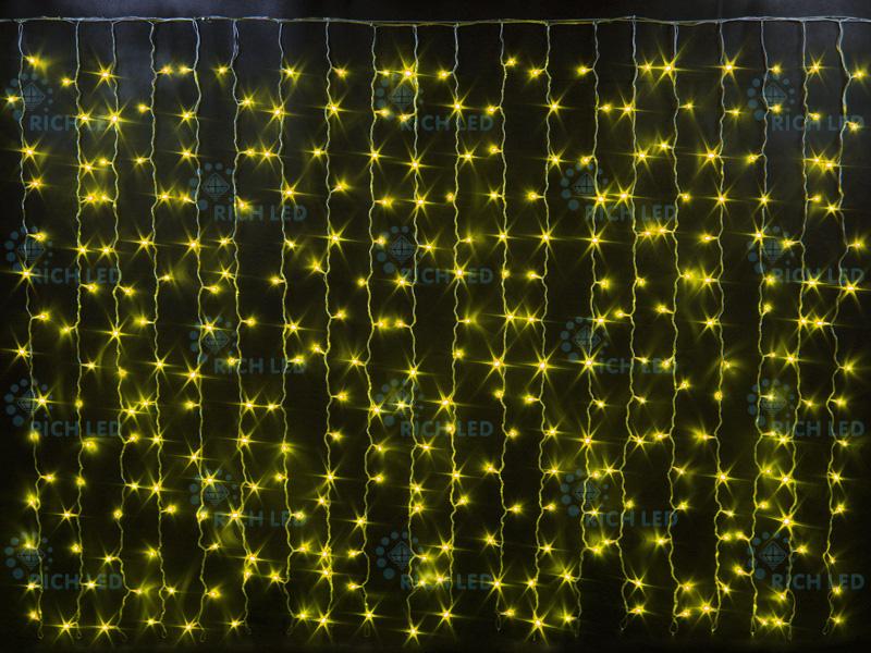 Занавес облегченный Rich LED 220В постоянное свечение
